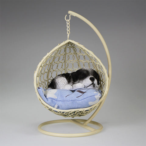 Sleeping Shihtzu in Swing Chair Figurine