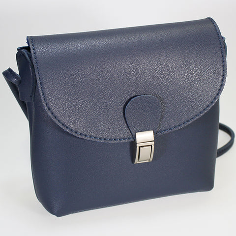 Single Compartment 'Mini Spy' Shoulder Bag - Navy