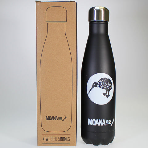 Stainless Steel Insulated Drink Bottle - Kiwi Emblem - 500ml