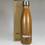 Stainless Steel Insulated Drink Bottle - Wood-look - 500ml