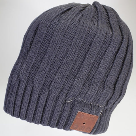 Moana Road - Beanie with Wireless Headphones - Grey