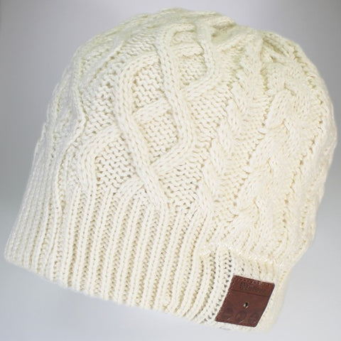 Moana Road - Beanie with Wireless Headphones - Off White