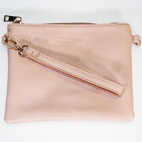 Moana Road 'Viaduct' Clutch Bag - Pink - Snakeskin Texture