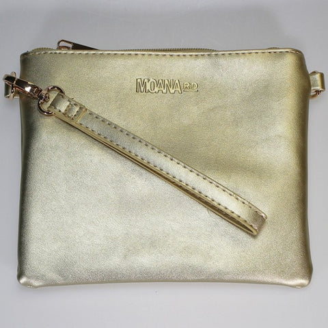 Moana Road 'Viaduct' Clutch Bag - Gold - Smooth Texture