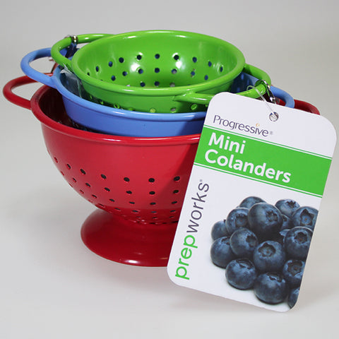 Set of 3 Mini Metal Colanders