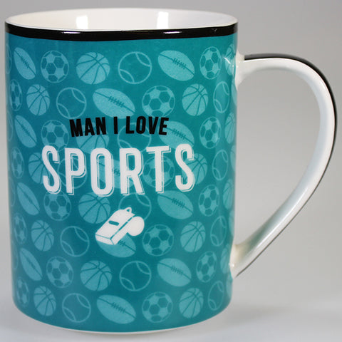 """Man I Love Sports"" - Boxed Mug"