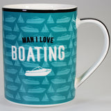 """Man I Love Boating"" - Boxed Mug"