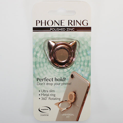 Phone Ring - Cat - Secure Hold and Phone Stand