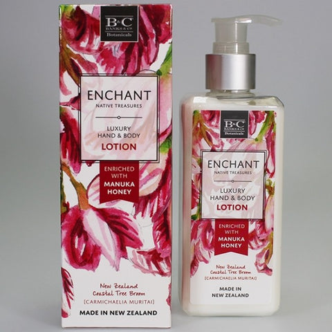 Banks & Co. ENCHANT Native Treasures - Luxury Hand & Body Lotion - NZ Coastal Tree Broom