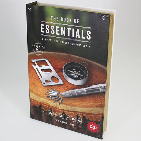The Book of Essentials - 3-piece Multi-tool & Compass Set