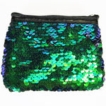 Reversible Sequin Coin Purse with Zip - 'Mermaid' Colour