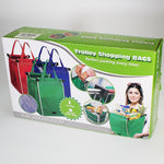 Reusable Folding Bag - Supermarket Trolley Bags - Set of 3