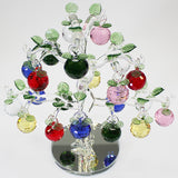 21 Apple Multicolour Glass Apple Tree