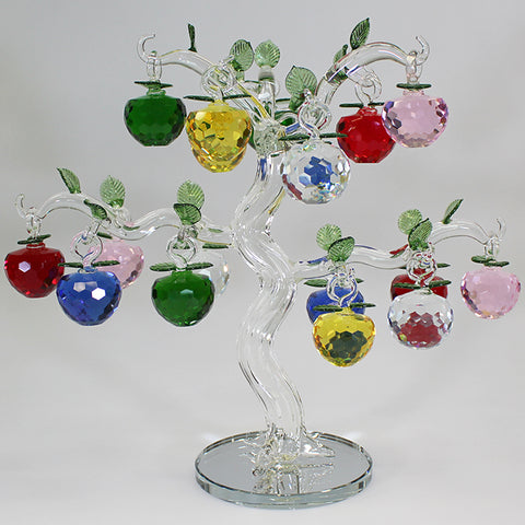 18 Apple Multicolour Glass Apple Tree