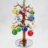 16 Apple Multicolour Glass Apple Tree - Amber Trunk