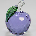 6cm Cut Glass Apple - Purple