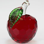 6cm Cut Glass Apple - Red