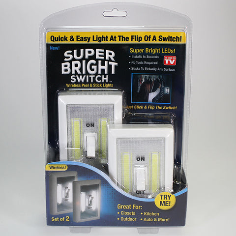 Super Bright Switch-style Wireless LED Lights - Set of 2