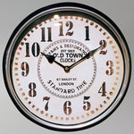 Classic Style Metal Wall Clock - Black