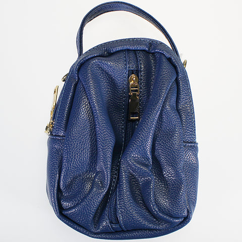 'Muso' Midi-sized Hand Strap Bag - Blue
