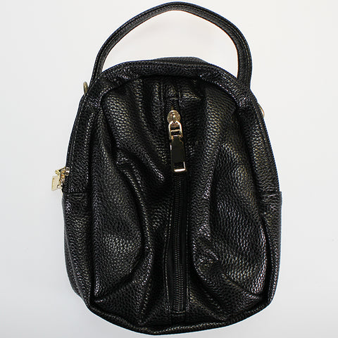 'Muso' Midi-sized Hand Strap Bag - Black