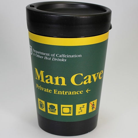 Department of Caffeination Man Cave - Reusable Coffee Cup
