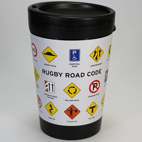 Rugby Road Code - Reusable Coffee Cup
