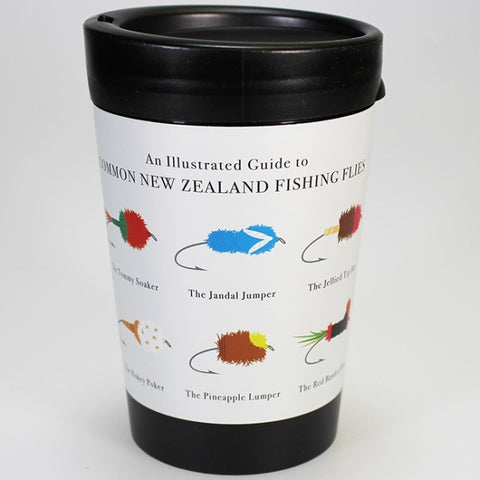 Common New Zealand Fishing Flies - Reusable Coffee Cup