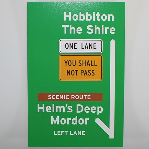 New Zealand Road Trip Wooden Sign - Lord of the Rings Inspired