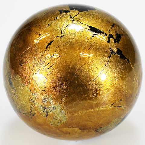 8cm Metallic Mottle Ball - Gold