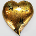 Gold Mottle Heart - Large