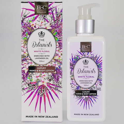 Banks & Co. The Botanists - White Floral - Luxury Hand & Body Lotion