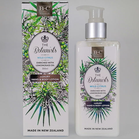 Banks & Co. The Botanists - Wild Citrus - Luxury Hand & Body Lotion