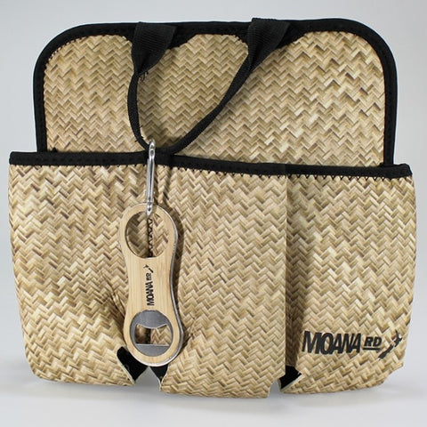 Moana Road - Flax Print 6-pack Beer Tote with Bottle Opener