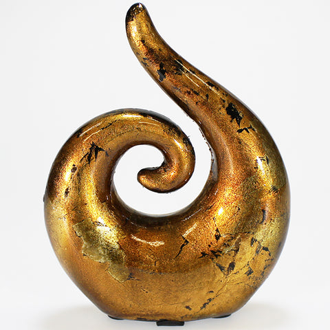 Gold Mottle Koru Decor