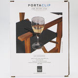 PortaClip - Set of 2 Glass Holder Clips