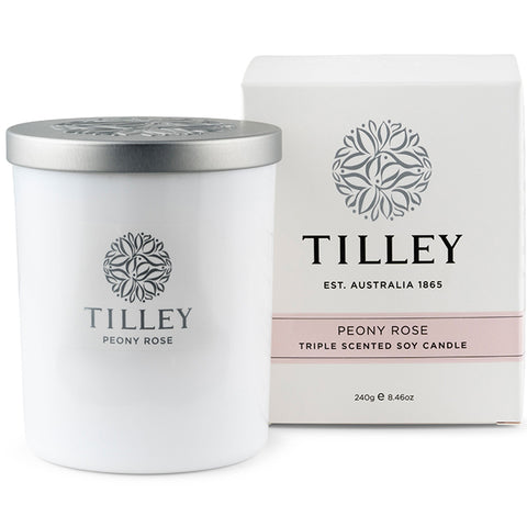 Tilley Soy Scented Candle - Peony Rose