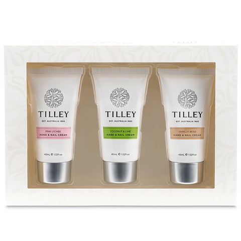 Tilley Hand and Nail Trio - Gourmet - 3 x 45ml