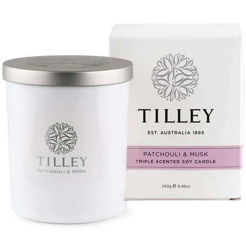 Tilley Soy Scented Candle - Patchouli and Musk