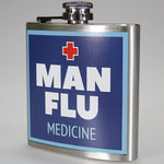 'Man Flu' Hip Flask