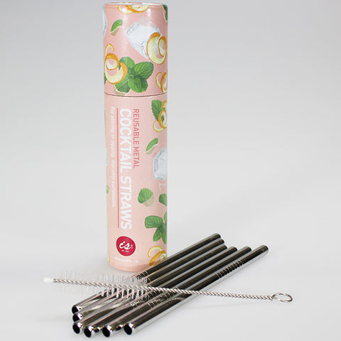 Reusable Stainless-Steel Cocktail Straws