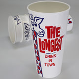 "Moana Road - ""longest Drink in Town"" Milkshake Cups - Set of 4"
