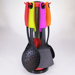 6-piece Nylon Utensil with Stand