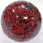 11cm Crackle-glass Red Decor Ball