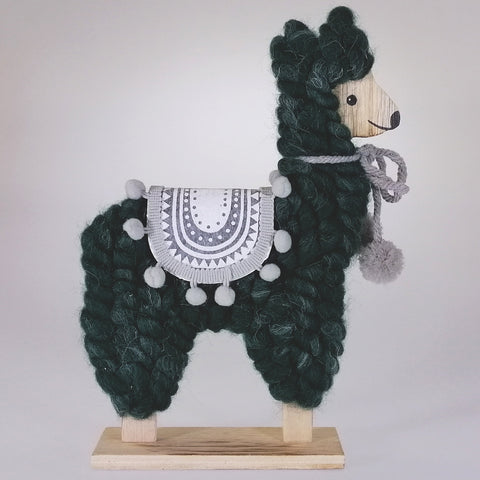 Christmas Llama Ornament - Green