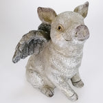 Resin Garden Ornament - Flying Pig
