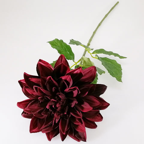 Artificial Flowers - Dahlia Stem - Wine