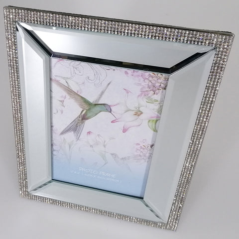 Mirrored Frame with Diamante - 10cm x15cm