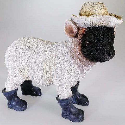 Blackface Sheep in Hat with Gumboots