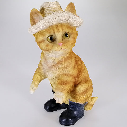 Ginger Cat in Hat with Gumboots